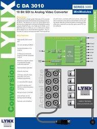 10 Bit SDI to Analog Video Converter - LYNX Technik AG