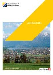 Jahresbericht 2012 - Volkswirtschaft Berner Oberland