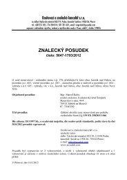 ZNALECKÝ POSUDEK číslo: 5647-1793/2012 - OKdrazby.cz