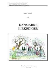DANMARKS KIRKEDIGER - Danmarks Naturfredningsforening