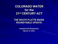 Colorado Water for the 21st Century Act - Colorado Division of Water ...