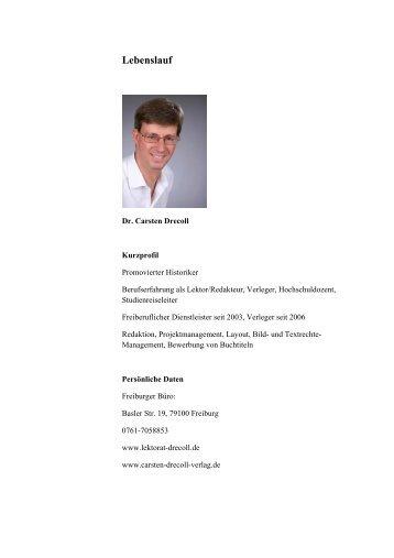 Lebenslauf - Carsten Drecoll