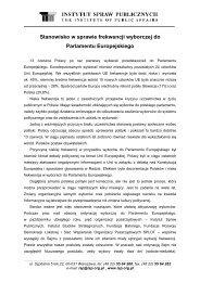 Stanowisko w sprawie frekwencji wyborczej do Parlamentu ...