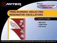 FREE-RUNNING DIELECTRIC RESONATOR OSCILLATORS - ATVA