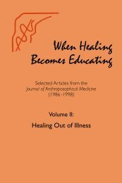 When Healing Becomes Educating, Vol. 2 - Waldorf Research Institute