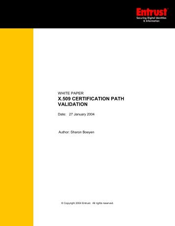 X.509 Certification Path Validation - Entrust