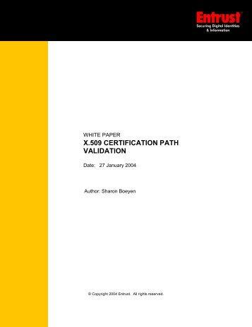 X.509 Certification Path Validation - Entrust
