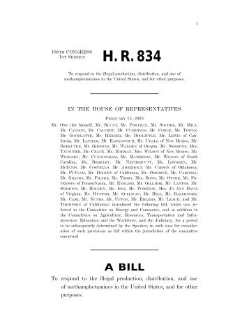 The CLEAN-UP Act (H.R. 834) - Drug Policy Alliance