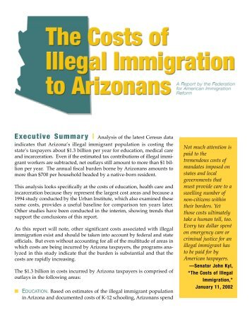 a overview of the mechanics and impact of an undocumented immigrant There are concerns about the effect of immigration on the economic prospects   between 200,000 and 300,000 illegal immigrants enter the united states each.