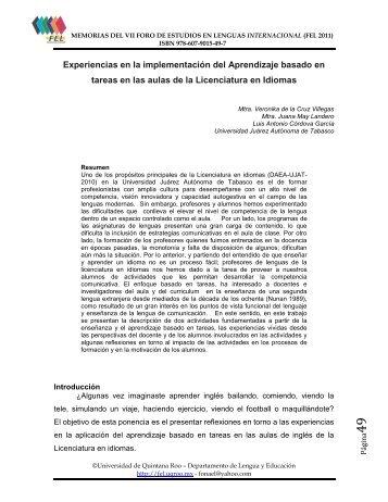 D I R E C T O R I O - Foro de Estudios en Lenguas Internacional ...