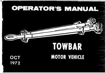 TM 9-4910-496-10, Operator's Manual, Towbar, Motor ... - Olive-Drab