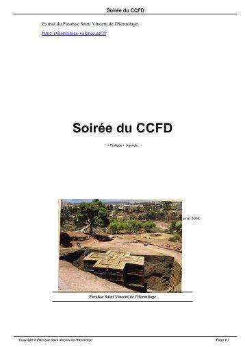 Soirée du CCFD - Paroisse Saint Vincent de l'Hermitage