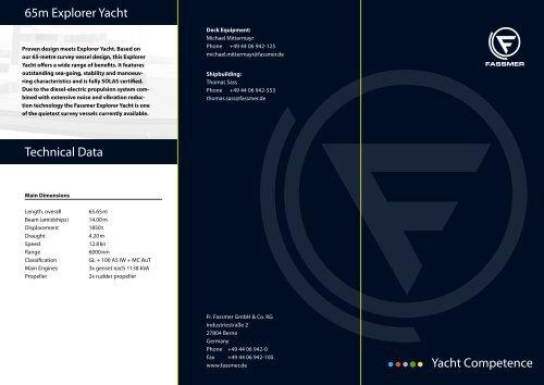 Technical Data - Fr. Fassmer GmbH & Co. KG