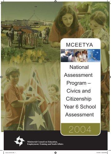 2004 Civics and Citizenship school release materials - NAP