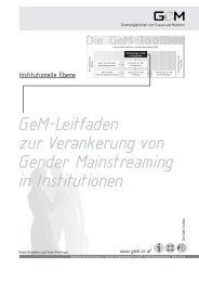 Leitfaden Verankerung von Gender Mainstreaming - in Graz!