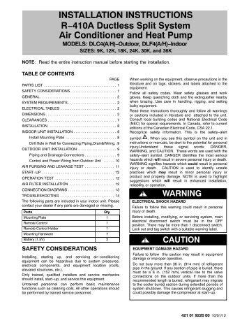 Daikin Ductless Split Installation Manual