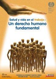 Salud y vida en el trabajo: Un derecho humano fundamental - Folleto