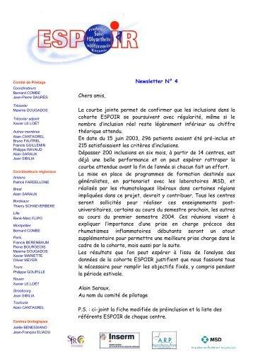 Newsletter 04 - La cohorte ESPOIR