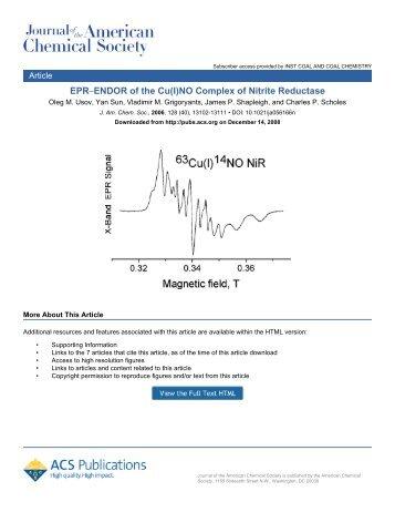 EPR−ENDOR of the Cu(I)NO Complex of Nitrite Reductase