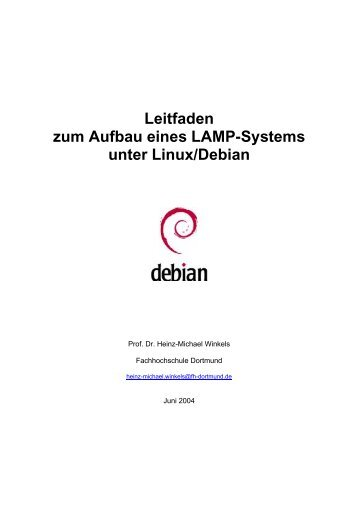Aufbau eines LAMP-Systems - Prof. Dr. Heinz-Michael Winkels ...