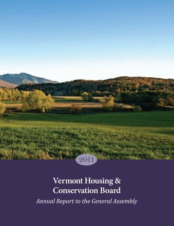 2011 Annual Report to the General Assembly - Vermont Housing ...