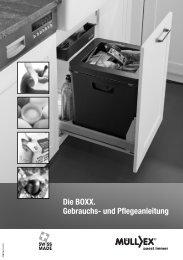 BOXX Gebrauchs- und Pflegeanleitung - müllex