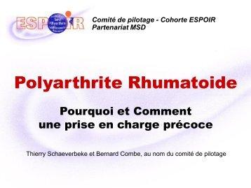 diaporama Rhumato 2011 - La cohorte ESPOIR