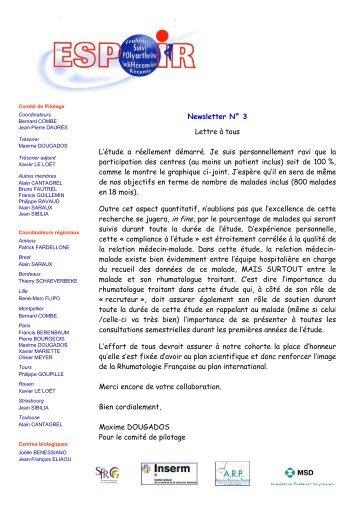 Newsletter 03 - La cohorte ESPOIR