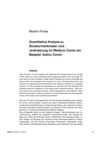 Martin Fricke Quantitative Analyse zu Strukturmerkmalen und ...