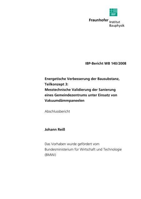 27.263 KB - Energetische Sanierung der Bausubstanz - EnSan