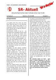 SR-Aktuell 1 -2008 - Fußball und Leichtathletik Verband Westfalen eV
