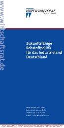 Zukunftsfähige Rohstoffpolitik für das Industrieland Deutschland