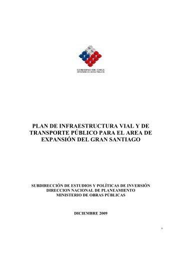 plan de infraestructura vial y de transporte público para el area de ...