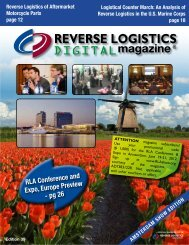 Logistical Counter March - Reverse Logistics Magazine