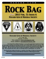 June 2013 Rock Bag Email Copy - Oxnard Gem & Mineral Society