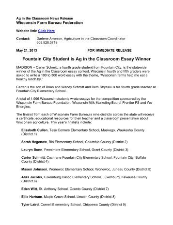 Ag day essay contest