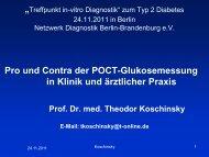Argumente PRO Glukose-POCT-Methodik - DiagnostikNet   BB