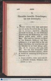 h! X. Vermischte botanische Bemerkungen; von dem Herausgeber.