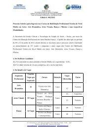 Edital nº. 002/2012 Processo Seletivo para Ingresso nos Cursos de ...