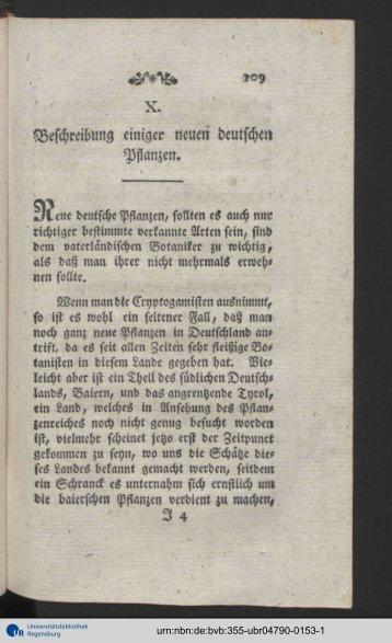Beschreibung einiger neuen deutschen Pflanzen.