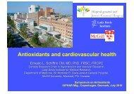 Antioxidants and cardiovascular health - WorldPharma 2010