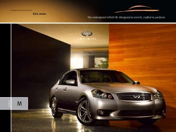 The redesigned Infiniti M. Designed to enrich, crafted to perform.