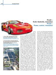 Pirelli – Kraft, Kontrolle, Innovation Pirelli – Power, control, innovation