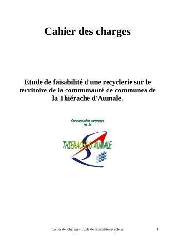 Cahier des charges Etude de faisabilité d'une recyclerie sur le ...