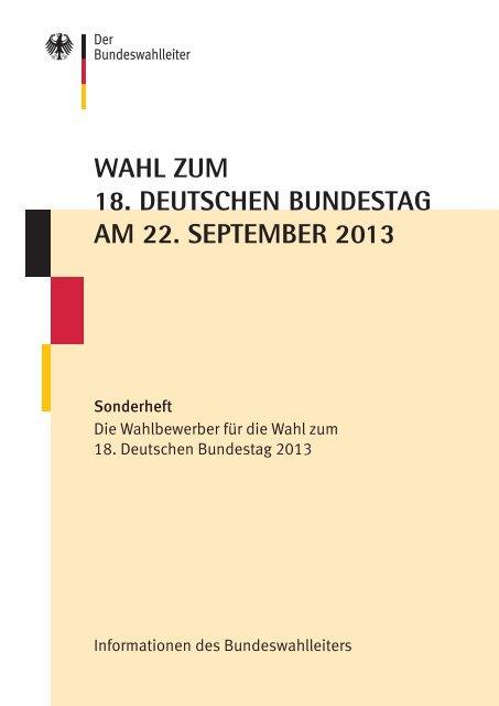 Stany Zjednoczone Nowa lista znana marka Wahl zum 18. Deutschen Bundestag am 22. September 2013 ...
