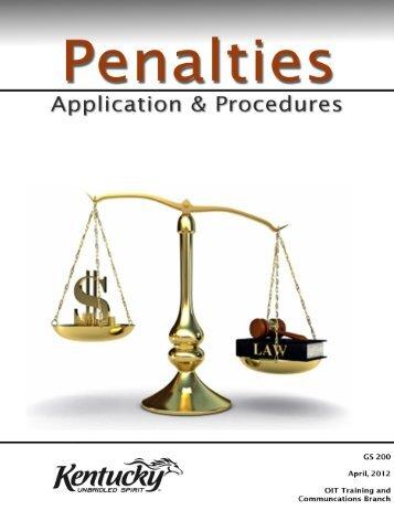 Penalty Manual Master2 - Kentucky: Revenue Employee Website