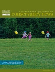 2009Annual Report - Columbia Land Conservancy