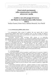 Osservatorio permanente sulla comunicazione ... - JCOM - SISSA