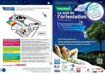 Téléchargez le programme 2012 (pdf) - Nuit de l'orientation