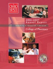 2007 Annual Report - College of Pharmacy - The Ohio State University